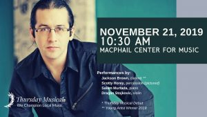 MacPhail Center for Music - Thursday Musical Artist Series - featuring drummer Scotty Horey @ MacPhail Center for Music