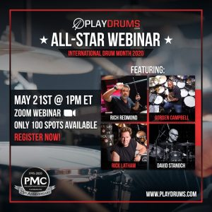 "David Stanoch ""All-Star Webinar"" featuring Gorden Campbell, Rick Latham, Rich Redmond for PLAYDRUMS.COM"