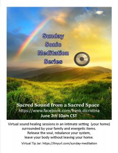 Gong sound therapy weekly with Frank DiCristina